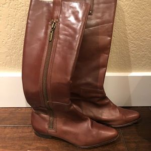 Michael Kors knee high leather boots